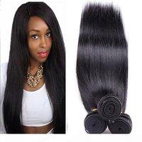 Pamina Péruvien Droit Bonds Bundles Human Hair Bundles 3 4 Bundle offres Double Theft Virgin Remy Extension de cheveux Couleur naturelle