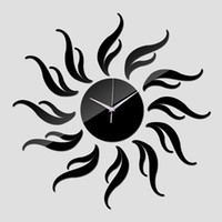 New Sun DIY 3D Acrilico specchio Horloge Adesivi decorazione domestica Duvar Modern Wall Clocks Reloj de Pared