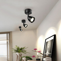 Track Lights Spotlight Led Hôtel Hôtel Display Vin Cabinet Lampes de plafond Nordic COB Lecture photo Fond de fond