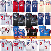 Аллен 3 Iверсон NCAA Joel 21 Embiid Ben 25 Simmons Баскетбол Джерси Юлиус 6 IVIing 2021 Новые майки Мужские