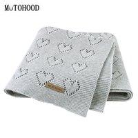 Motoodottoria Baby Coperte lavorato a maglia Neonato Swaddle Wrap Soft Soft Soft Bambino Biancheria da letto Quilt Inverno Inverno Autunno Passeggino Bambina Blank Blanket LJ201105
