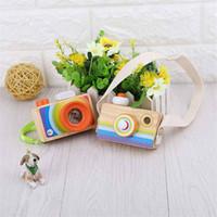 나무 미니 카메라 만화경 아이 장난감 어린이 키즈 룸 소년 소녀에 대 한 장식 장난감을 매달려 장식 장난감