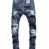 Verano 2019 Jeans para hombres al por mayor, producción europea de mezclilla de buena calidad Desgaste de los hombres Bienvenido al tamaño 28-38: 44-54 02