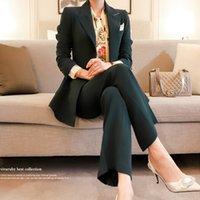 Zawfl Herbst-Winter-Langarm Formal Professional Women Anzüge mit Hosen und Jacken-Mantel-Damen Büro Blazer Set