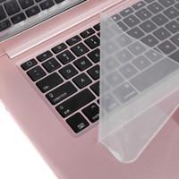 """لوحة المفاتيح غطاء حامي العالمي للماء الجلد لوحة المفاتيح واضح السينمائي واقية سيليكون 14 """"15"""" كمبيوتر محمول PC الكمبيوتر"""