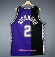 Custom Custom Retro 2 MitchRichmondChampion College Basketball Jersey Men's Couverte Nom ou numéro de taille