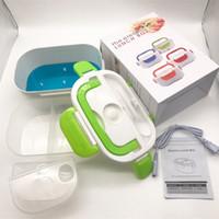 Plug In-Lunchbox Split-Stil Wärmeerhaltung Feste Farbe Rechteckige Boxen Heizung Tragbares Abendessen Eimerung Easy Clean Neue 22HB L2