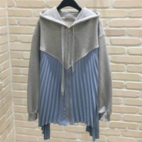 [EWQ] 2021 Spring Fashion Female Casual Patchwork Long- sleev...