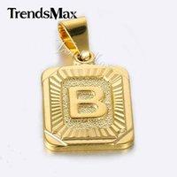 قلادة القلائد trendsmax جودة عالية الذهب الأصفر مملمع ساحة W كابيتال إلكتروني تصميم الأزياء رجالي إمرأة مجوهرات بالجملة GP37