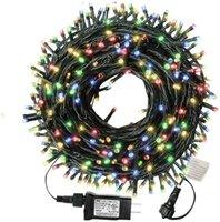 LED impermeabile 10M 20M 30M 50M 100M luci della stringa 24V UE US Garland da esterno per alberi di Natale di natale della decorazione del partito di nozze