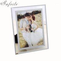 Cadre d'image soufeile Crystal Clear Verre Cadre photo Cadre Pendule Taille de la photo 5 pouces 7 pouces 10 W3D201
