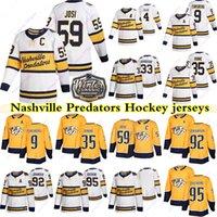 Nashville Predators Jerseys 9 Filip Forsberg 59 Roman Josi 33 Viktor Arvidsson 35 Pekka Rinne 4 Ryan Ellis 95 Matt Duchee Hockey Jersey