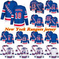 뉴욕 레인저스 유니폼 10 Artemi Panarin 24 Kaapo Kakko 13 Alexis Lafreniere 93 Mika Zibanejad 모든 번호의 모든 이름 Hockey Jersey 사용자 정의
