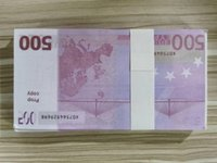 PROP MONEY EUROS 100 UNIDS / PACK FAKE FIESTE JUGUETES JUGUETES ATMOPOSO Nighclub Bandería Money Game 500 Play Copy Movie QCCPV