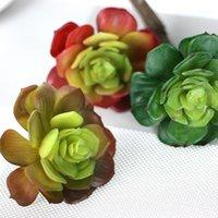 Guirnaldas de flores decorativas Artificial Suculenta Lotus Floral Follaje Floral Folleto Party Party Decor Plants1