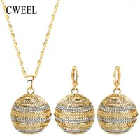 Cweel Jewelry sets Dubai Bridal para las mujeres Boda African Beads Nigerian Beads Moda Trendy Vintage Costume1