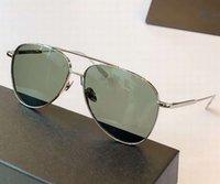0078 فضة الخضراء الرجال الطيار النظارات الشمسية 59MM الرجل مصمم النظارات الشمسية نظارات ذات جودة عالية جديد مع الصندوق