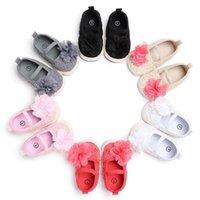First Walkers Хлопок Детские Девушки Обувь Детская Детская Малыш Малыш Цветок Мягкая противоскользящая кроватка 0-18 месяцев