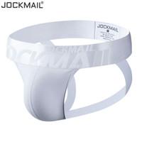 Jockmail Jockstrap atractivo Gay interior de los hombres de cadena tanga correa de los hombres de pene bolsa Breves Slip Algodón Negro Blanco
