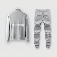 Mens Casual Tracksuits Mens Fashion Zweiteilige Anzüge B @ lena Brief Cardigans + Pants Jugend Socild Farbe Aktiv Sportkleidungen Plus Size Sets