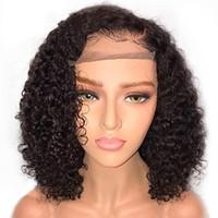 Perruques courtes tressées de cheveux humains Perruques courtes HD transparentes Perruque pleine dentelle pleine dentelle
