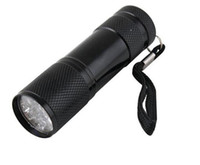 9LED фонарик алюминиевый UV ультрафорированный фиолетовый свет 9 светодиодный фонарик факел свет бесплатно DHL доставка 1000 шт.