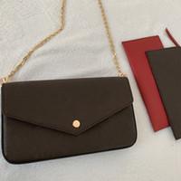 클래식 여성 가방 체인 가방 진짜 가죽 지갑 카드 크로스 바디 지갑 어깨 메신저 지갑 핸드백 여성 캔버스 지갑 쇼핑