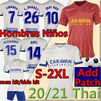20 21 Real Zaragoza # 23 Shinji Kagawa Bar Futebol Jersey 21 Zapater Camiseta de Fútbol Vazquez Pombo Saragossa Borja Futebol Uniforme