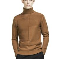 Zogaa Invierno Hombres Turtimeneck Suéter Color Sólido Manga Larga Pullovers Masculino Punto de punto Slim Fit Tintado Suéteres Punto de punto Ropa de punto