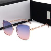 Hotsale الفاخرة Qualtiy جديد أزياء المرأة نظارات شمسية خمر المتضخم نظارات الشمس مصمم في الهواء الطلق نجمة نمط نظارات مع هدية مربع