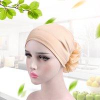 Beanie / Kafatası Kapaklar 6 Stil 3d Çiçek Şapkalar Kadınlar Için Müslüman Pileli Kanser Kemo Şapka Beanie Eşarp Türban Başkanı Wrap Cap Bonnet Femme