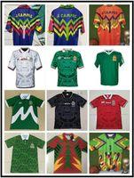 1998 México Retro Futebol Jerseys Blanco Hernandez Blanco Campos Uniformes 1994 Jorge Campos Goleiro Jerseys Camiseta 1986