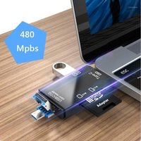 Adattatori per telefoni cellulari USB 2.0 scheda reader di schede Tipo C Micro Memory TF OTG Adattatori mobili1