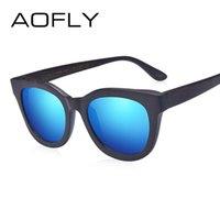 AOFLY Brand Design Bambus Frauen Männer polarisierte Sonnenbrille handgemachte Retro Vintage Oval Frame Goggle Oculos De Sol AF605