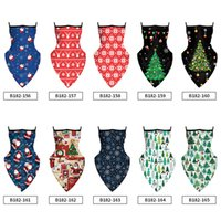 Christmas Bandana Balaclava with Ear Loop Triangle Scarf for...