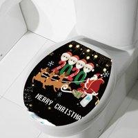 2021 estadia em casa de Natal WC Máscara Adesivos Quarentena ornamento face família de 4 Feliz Natal Moda Detalhes etiqueta E101303