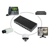 Компьютерные кабели разъемы 8 Порт 10/100 Мбит / с POE Ethernet Сетевой выключатель LAN HUB Умный коммутатор Поддержка 6-55 В Блок питания