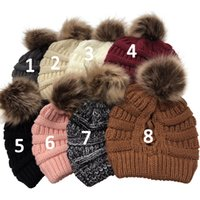 New Women Beanie Ponytail Hat Lady Beanie Tail Messy Soft Bu...