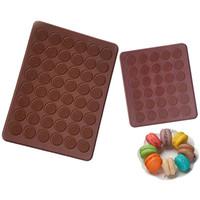 Biscotti Solido Colore Silicone Stampo in silicone 30 fori 48 fori Muffa per la casa Muffa Cioccolatini Stampi Semplicità Strumenti di cottura di alta qualità 4 4JM2 P2