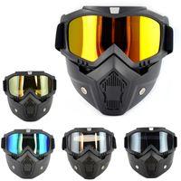 Capacete da motocicleta Off-road Windproof Óculos Máscara óculos ski Segurança Protective
