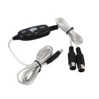 جديد 2M USB IN-OUT MIDI كابل واجهة محول PC لوحة المفاتيح الموسيقى الحبل محول الشحن المجاني