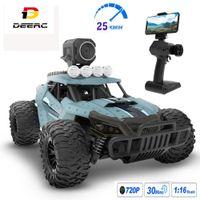 Deerc RC Car com câmera Full HD 720P 1:18 25km / h de alta velocidade Racing Drift carro WiFi câmera de controle remoto carro brinquedos para crianças