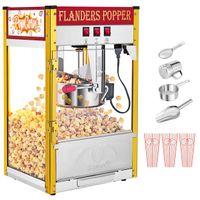 850 Вт Урожай профессиональный электрический попкорн Maker Popper Machine Ретро одна дверь с освещением красный черный домашний кинотеатр кинотеатра