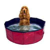 Дома собаки питомники аксессуары Tinghao складной бассейн домашнее животное ванна для ванны складные купания для собак Cats Kids 30x10cm / 80x20cm