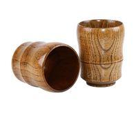 Топ-класс ретро 5 унций винные очки натуральный твердой древесины деревянные чашки чашки чашки пивных чашек 150 мл кофейные кружки молока ZZC4190