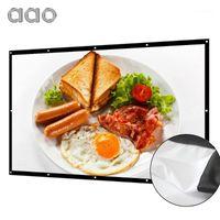 AAO 100 120 150 pouces 16: 9 Écran de projecteur 3D HD Home Home Theater Wall Mawhite YG620 Écran de projection portable AntiCrease Canva1