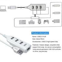 Hubs USB HUB 20.Hub Splitter Çok 2.0 4 / Port MultiPort HAB ile Bilgisayar Aksesuarları için Güç Ile 7 Adaptörü PC1
