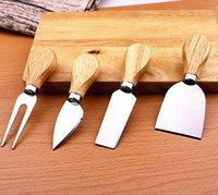 أدوات الجبن مجموعة زبدة بيتزا القاطع القطاعة اوك مقبض سكين شوكة المجرفة كيت المباشر المطبخ لقطع مجموعات الخبز والجبن مجلس IIA878