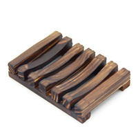 Natural Bamboo Wooden Soap Dishes Plate Tray Holder Box Case...