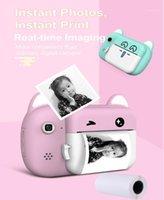 Цифровые камеры 2.4-дюймовый IPS HD Touching экран мультфильма Pograptable детская камера мини видео 1080P PO принтер USB перезаряжаемый1